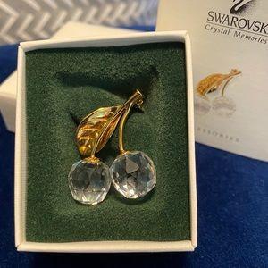 Swarovski Crystal Memories Cherries Pin